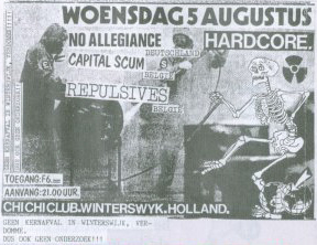 (87-08-05 Repulsives - No Allegiance, Winterswijk)